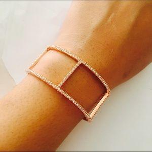 BCBGMaxAzria Jewelry - BCBGMAXAZRIA Rose Gold Pave Bracelet