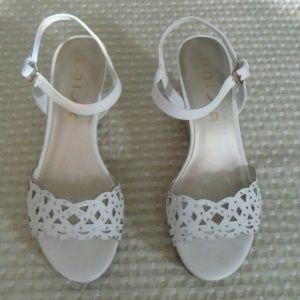 Unisa Shoes - UNISA Wedges White Sandal