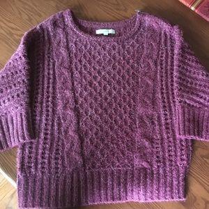 LOFT- super soft sweater- maroon sweater- XL