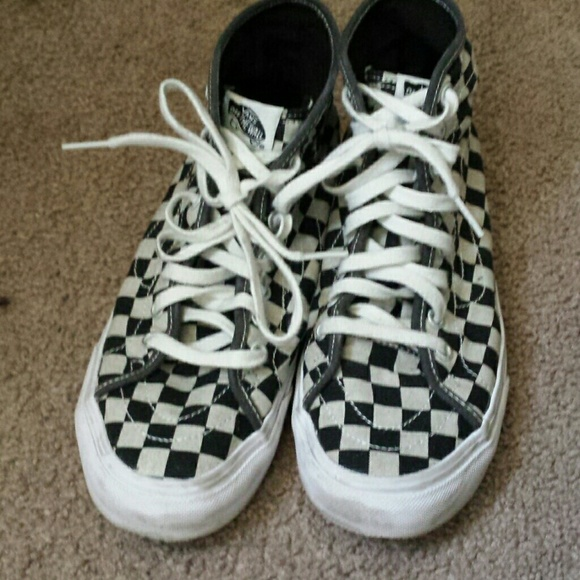 420858dc53a Vans Shoes - Vans Sk8-Hi Checkerboard Women s High-Top Sneaker