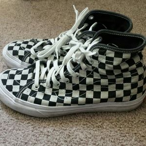 vans sk8 hi all over checkerboard