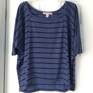 Love By Design Tops - 🎉HP🎉Striped Blue Blouse