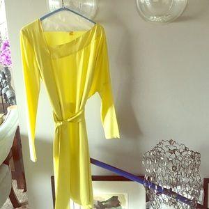 Diane von Furstenberg Dresses & Skirts - 🌼Symmetric neon yellow silk DVF dress🌼