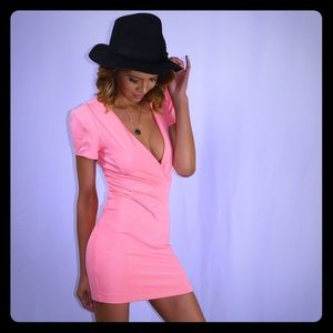 Coral chic dress