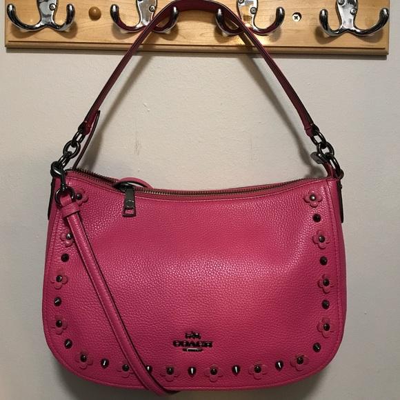 8cde7654abc1 40% off Coach Handbags - NWOT Coach Dahlia Flower Rivet Chelsea ...
