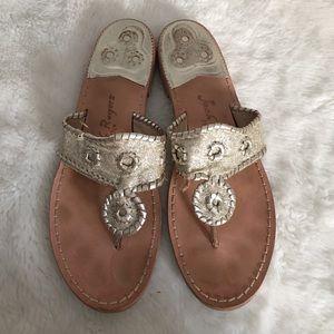 Jack Rogers Shoes - Jack Rogers Gold Glitter Sandals size 11
