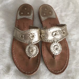 Jack Rogers Shoes - Jack Rogers Gold Sandals size 7