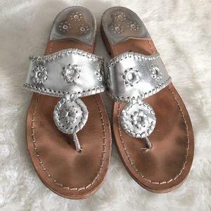 Jack Rogers Shoes - Jack Rogers Silver Sandals size 8 1/2