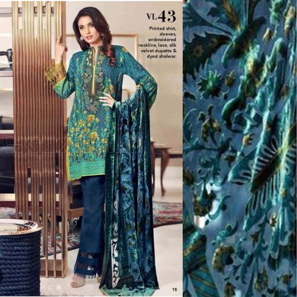 490ade8951 Gul Ahmed Dresses | Silk Velvet Salwar Suit | Poshmark