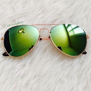 Mirror Tint Ray Ban Style Aviators Sunglasses