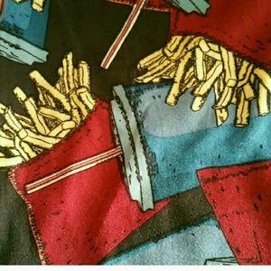 Lularoe French Fries & Soda OS Leggings NWT