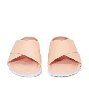 Brand new in box Jeffrey Campbell blush slides!