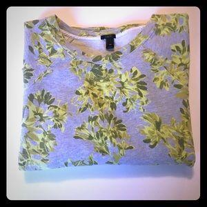 J. Crew Long Sleeved floral sweatshirt XS