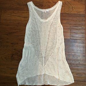 Cabi Linen Woven Vest