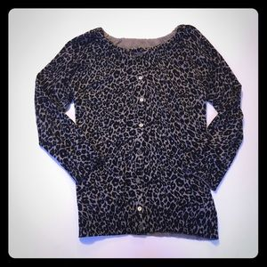 Beautiful Small LOFT Leopard print cardigan