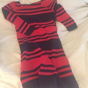 Old navy red and navy blue striped dress