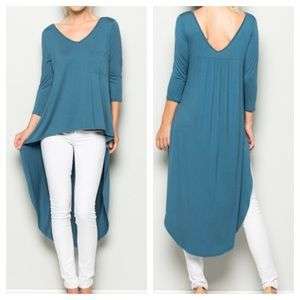 Tops - New- HI LOW V-NECK TOP