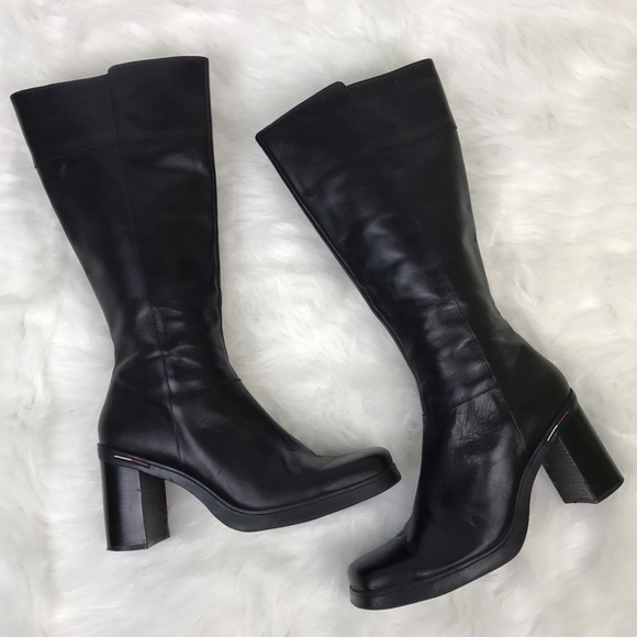ea2a547fd ... Tommy Hilfiger Leather Boots 90s Grunge. M 5817ce17680278c69711bbf9