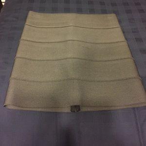 Pleasure Doing Business Grey Banded Skirt