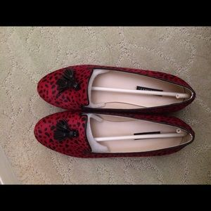 ShoeMint Kathy Red Dalmation Loafers (Size 8.5)