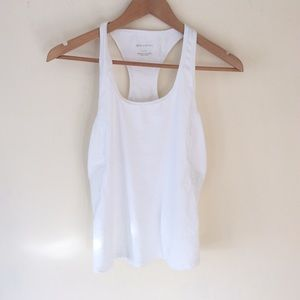Fabletics White Sports Tank Top Small - Used