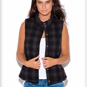 Pretty Penny Stock Jackets & Blazers - ❗️SALE❗Like New Wool Plaid Puffer Vest