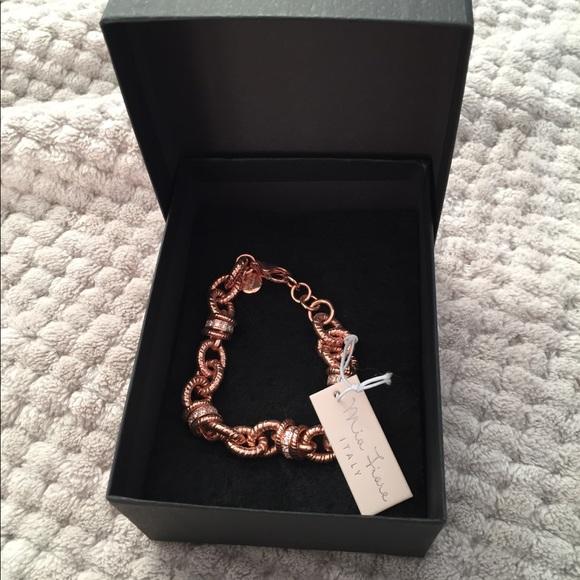 Mia Fiore Jewelry Dyadema Rose Gold Chunky Link Bracelet Poshmark