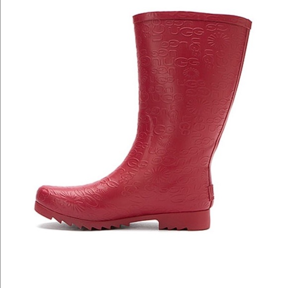 84cb5ab6d49 UGG Wilshire Rain Boots Red Short 7 New