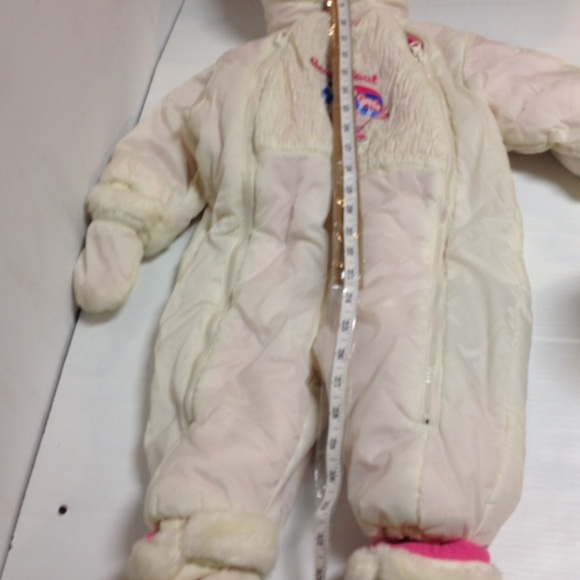 Jackets & Coats - Outbrook kids reversible pink white snowsuit 18m