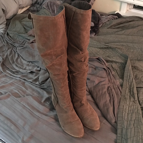 bb66881d4af American Eagle Outfitters Shoes - Suede Over The Knee Boots