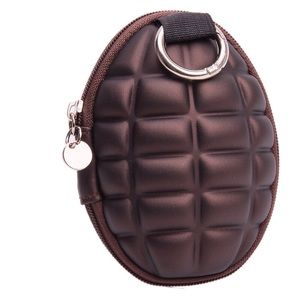  BROWN GRENADE KEY RING WALLET
