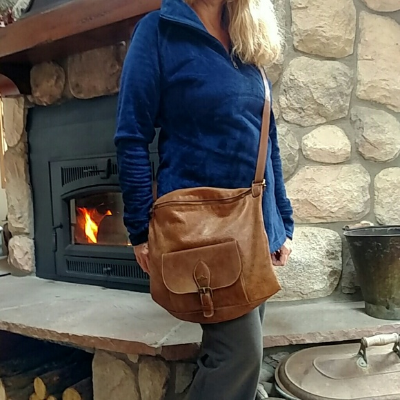 44% off Roots Canada Handbags - Roots Saddle Pack Tribe Leather ...