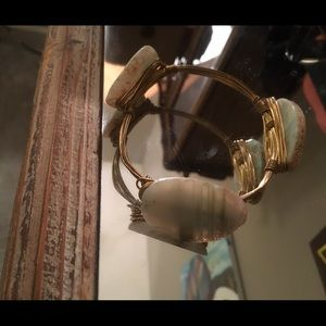 Bourbon and Boweties Druzy Stone Bangle Bracelet