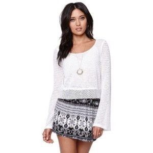 NWOT PacSun LA Hearts Bell Sleeve Crop Top