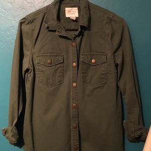 F21 Green Surplus Shirt