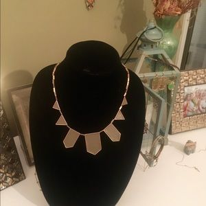 House of Harlow 1960 Jewelry - House of Harlow gold tone khaki leather necklace
