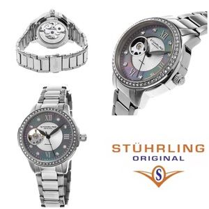 Stuhrling Original Accessories - Stuhrling, womens perle open ❤️crystal watch