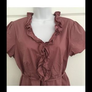 Motherhood Maternity Ruffle Top Size Large