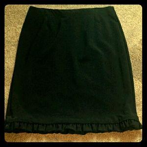 Flirty Ruffle Hem Sunny Leigh Black Skirt