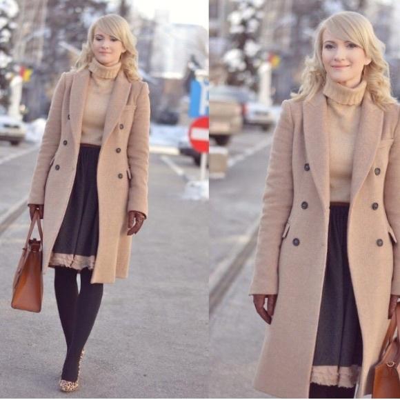 b9c167dd Zara Jackets & Coats | New Wool Camel Beige Masculine Coat | Poshmark
