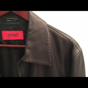 HUGO Other - HUGO Boss men's lamb leather zip up jacket