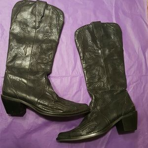 Roper Shoes - Roper Black Western Cowboy Cowgirl Boots
