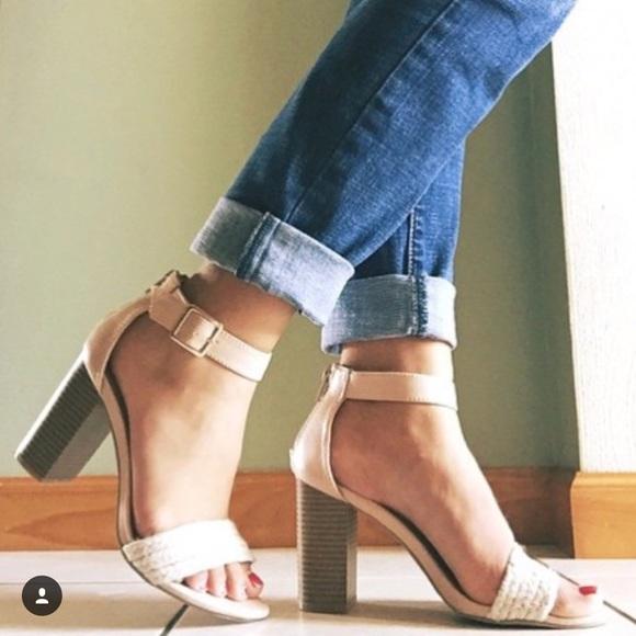 66cee96a719f LC Lauren Conrad Shoes - LC Lauren Conrad Blush Nude Block Heel Sandals 6