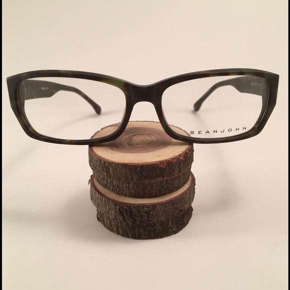 Sean John Accessories | Army Green Tortoise Eye Glass Frames | Poshmark