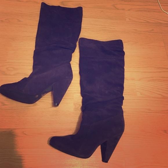 c112565039 Jessica Simpson Shoes - Jessica Simpson Purple Suede Boots women s size 10