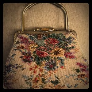 Authentic Original Vintage Style Handbags - Vintage 1950 tapestry purse