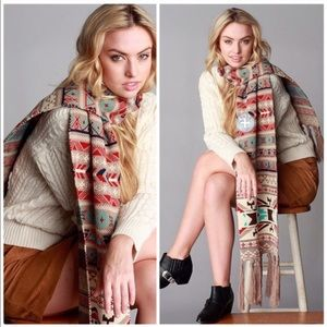 Threads & Trends Accessories - Nordic Jacquard Print Knit Scarf