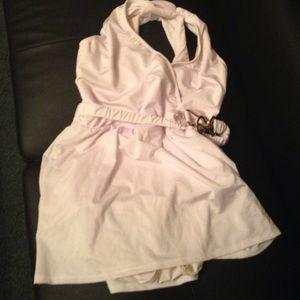 Monif C. Other - New Plus size Monif c white & gold swim dress 12w