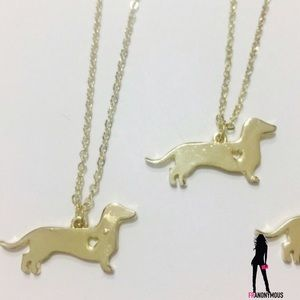 October Love Jewelry - Gold Plated Doxie Necklace