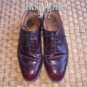 Johnston & Murphey Reddish Brown Dress Shoes 9 1/2